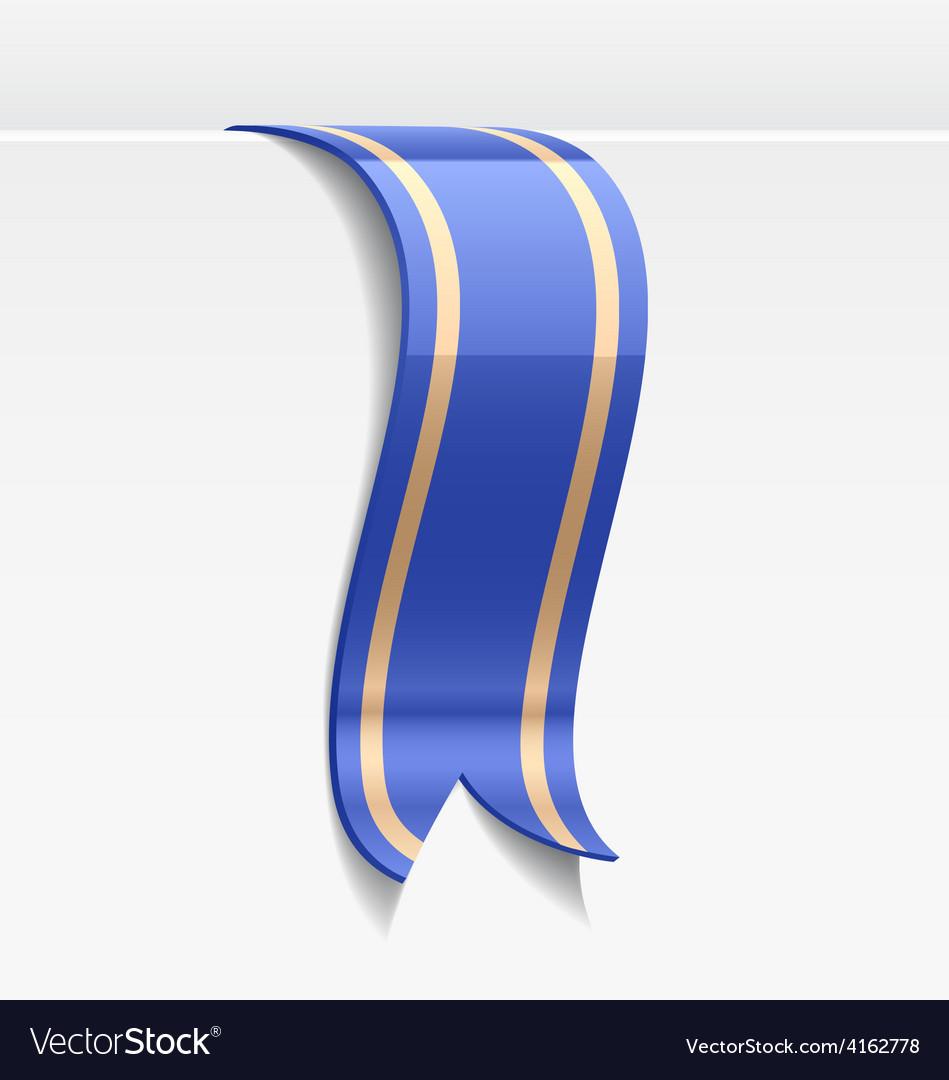 Blue bookmark decoration ribbon vector | Price: 3 Credit (USD $3)