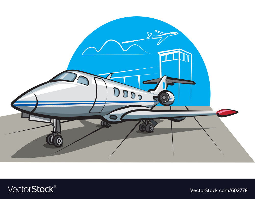 Business airplane vector | Price: 1 Credit (USD $1)