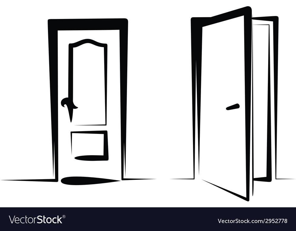Door icons vector | Price: 1 Credit (USD $1)