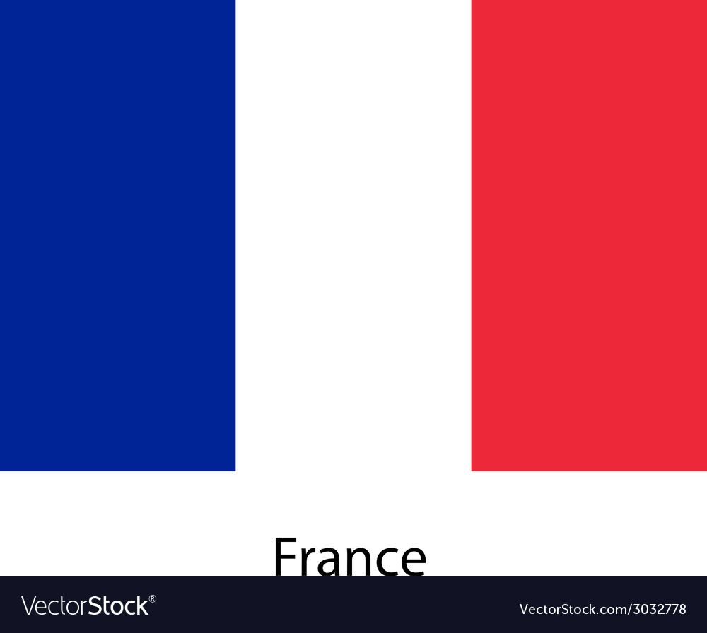 Flag of the country franse vector | Price: 1 Credit (USD $1)