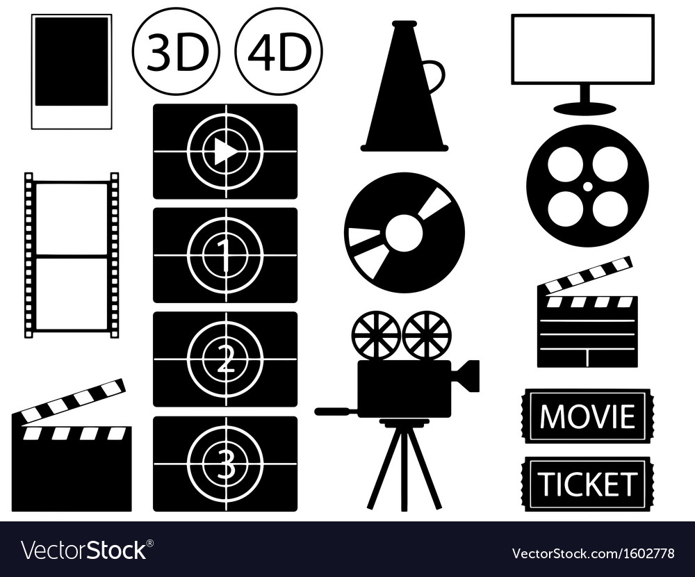 Movie vector | Price: 1 Credit (USD $1)