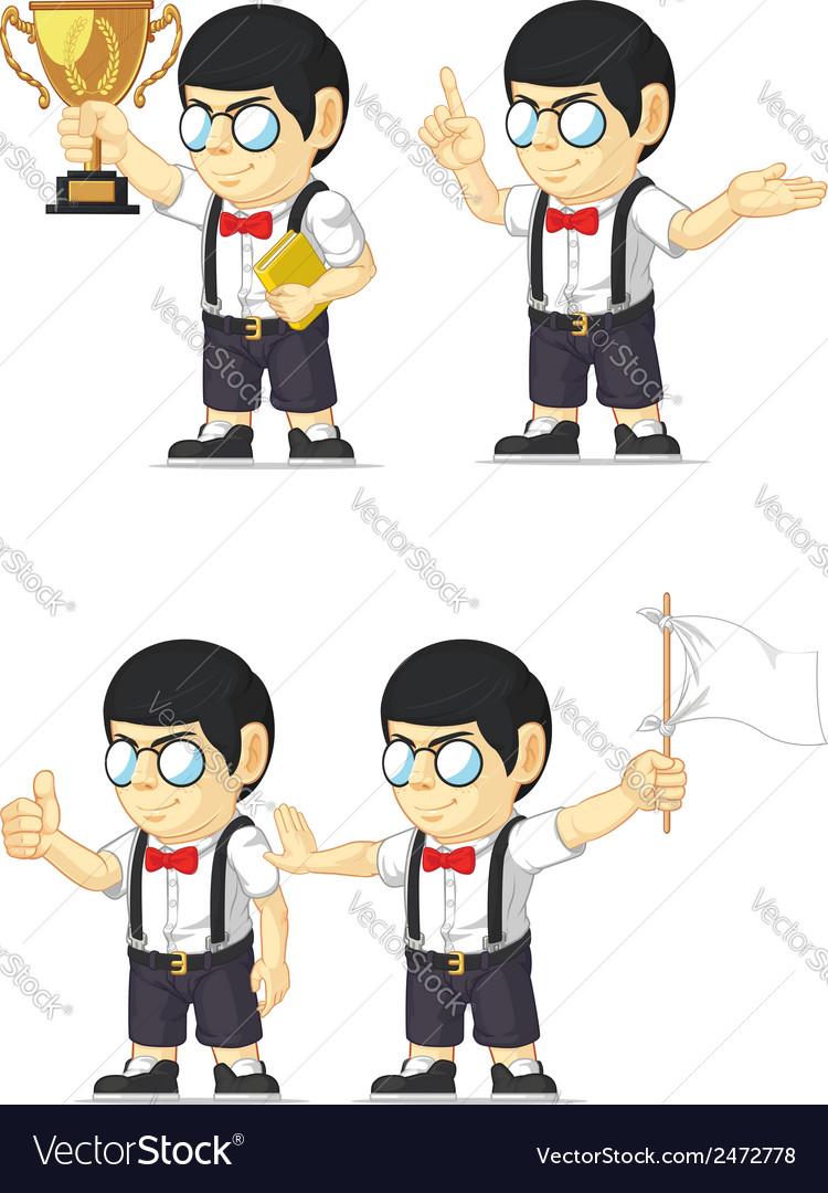 Nerd boy customizable mascot 4 vector   Price: 1 Credit (USD $1)