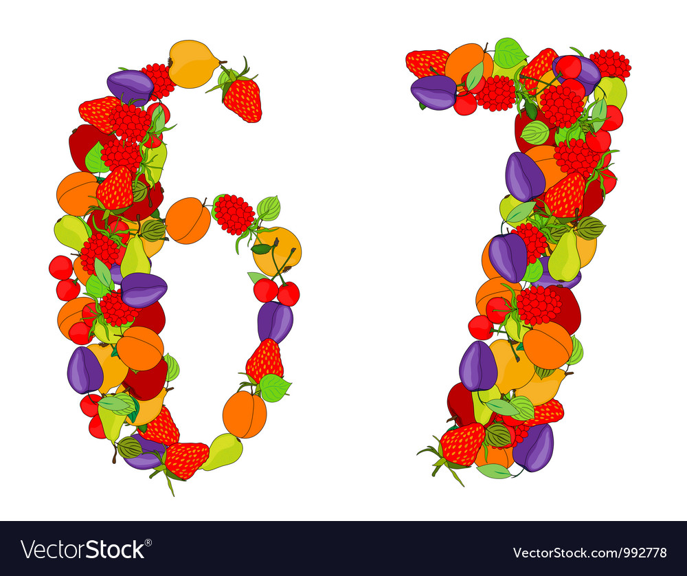 Number six and number seven vector   Price: 1 Credit (USD $1)