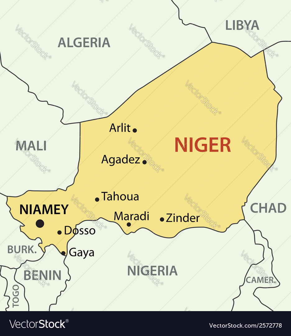 Republic of niger - map vector | Price: 1 Credit (USD $1)