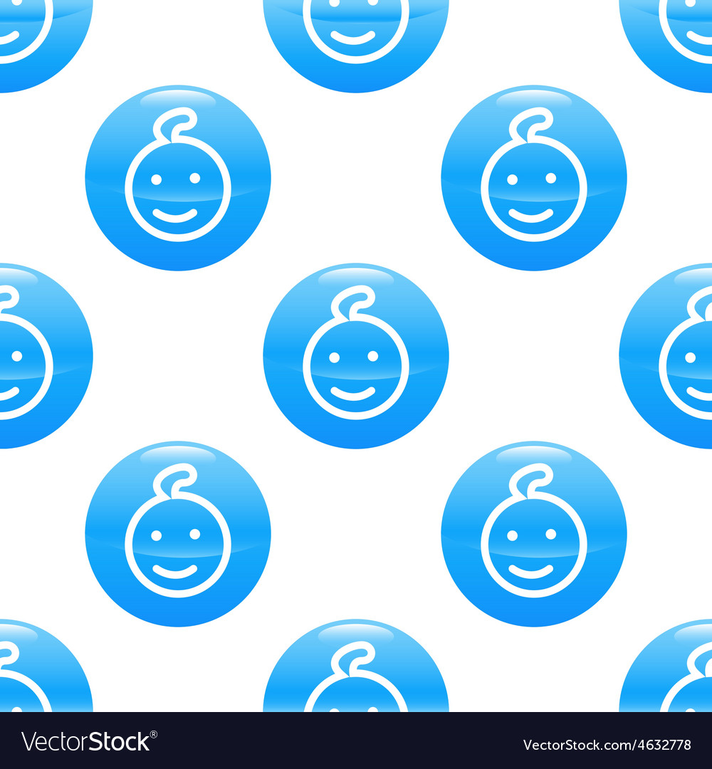 Smiling kid sign pattern vector   Price: 1 Credit (USD $1)