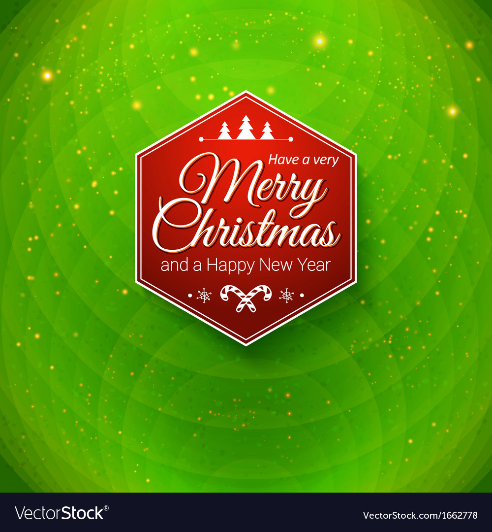 Traditional merry christmas and happy new year vector | Price: 1 Credit (USD $1)