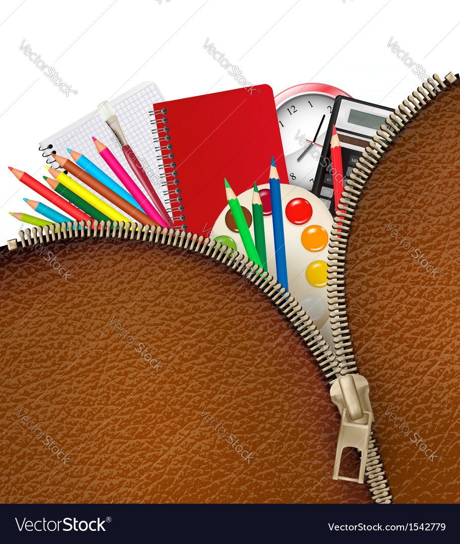 Back to school background with school supplies and vector | Price: 1 Credit (USD $1)