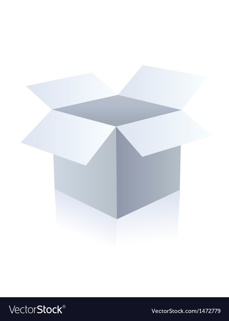 Blank box vector | Price: 1 Credit (USD $1)