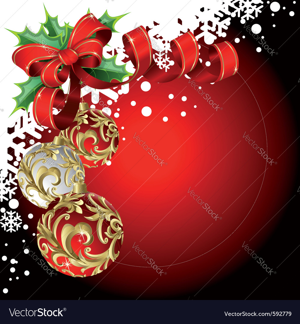 Christmas balls and bow vector | Price: 1 Credit (USD $1)