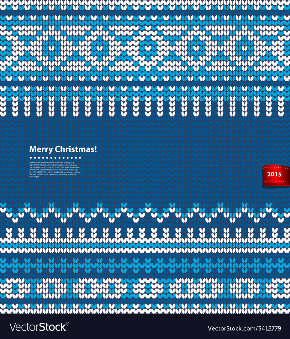 Christmas knitted vector | Price: 1 Credit (USD $1)