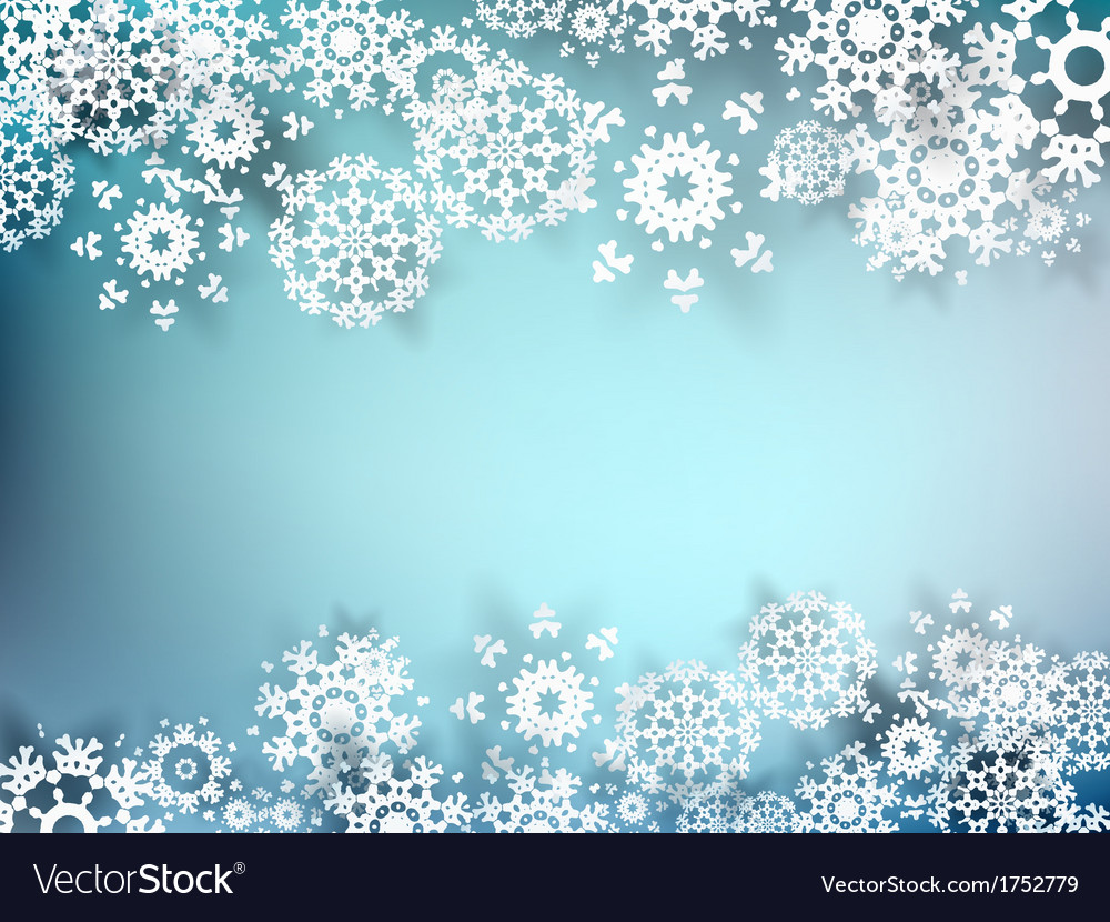 Christmas postcard with paper snowflakes eps 10 vector | Price: 1 Credit (USD $1)