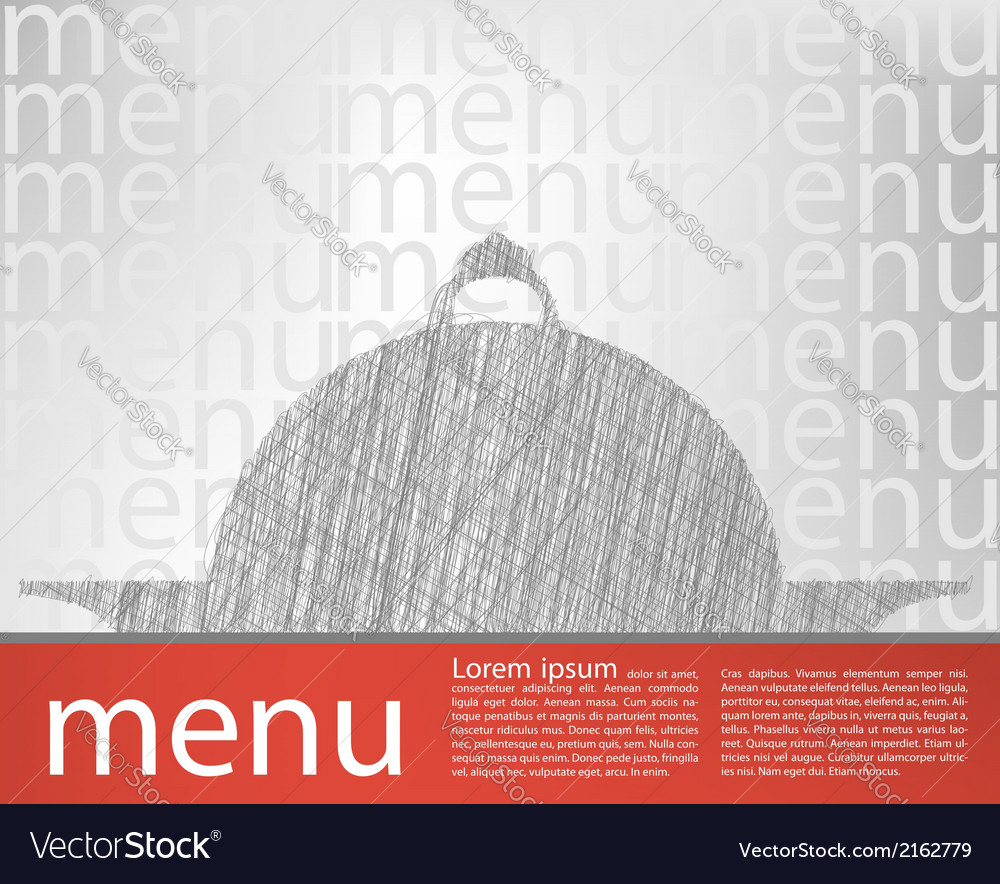 Food tray menu template vector | Price: 1 Credit (USD $1)