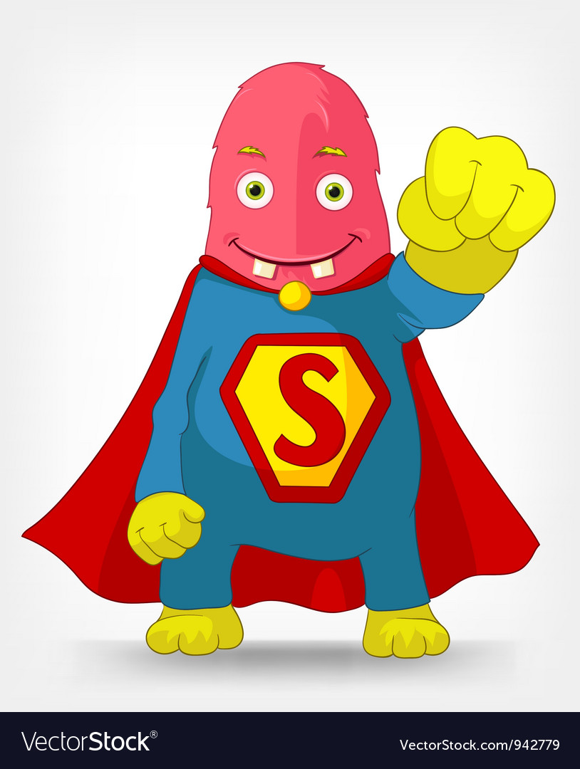Funny monster super hero vector | Price: 3 Credit (USD $3)