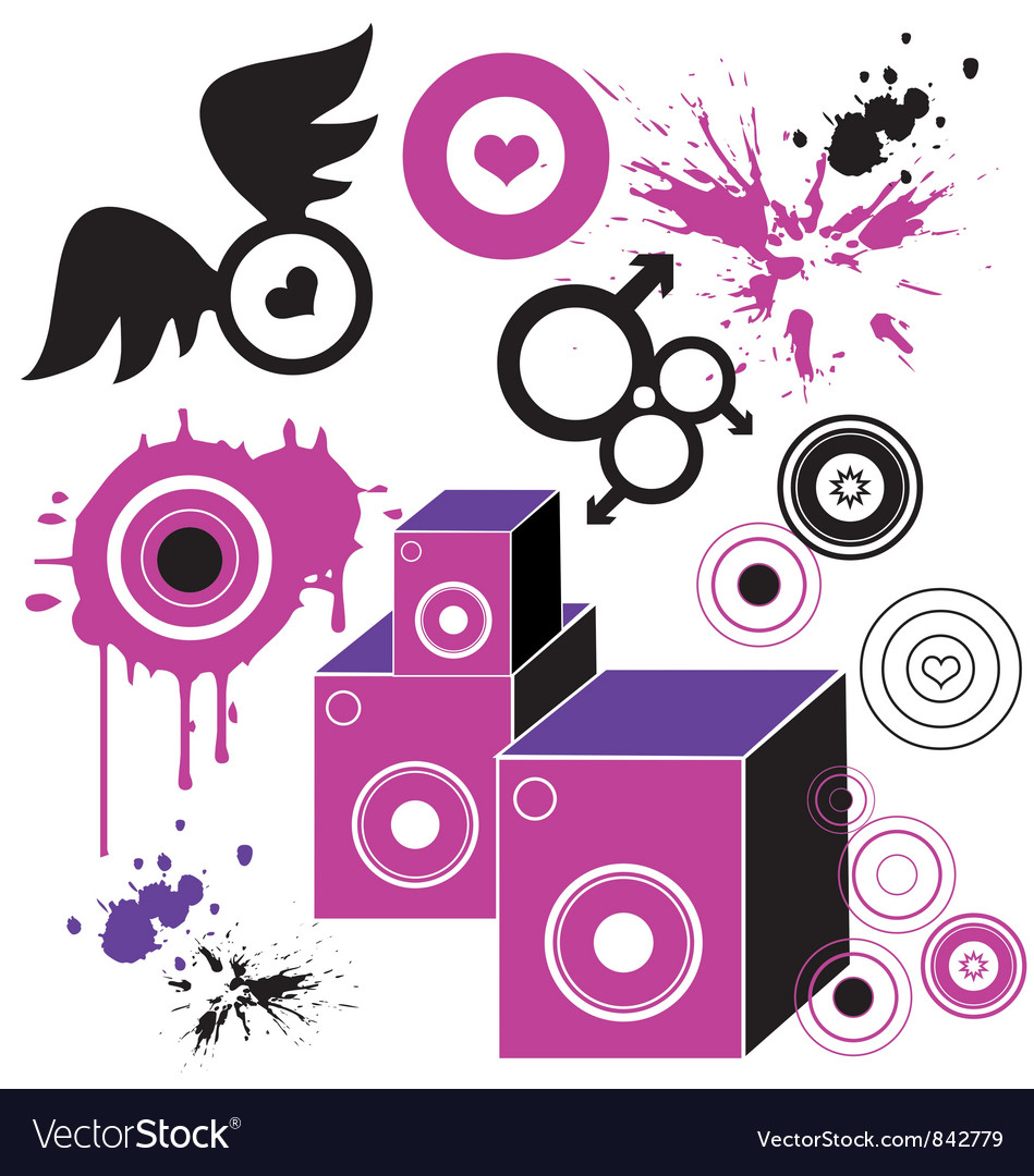 Hip hop style background vector | Price: 1 Credit (USD $1)