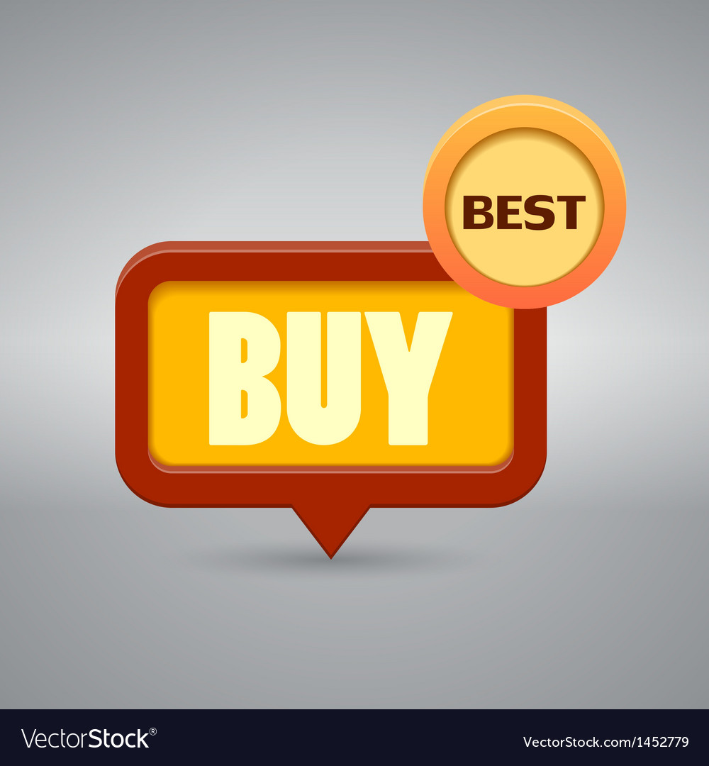Icon with the word buy vector | Price: 1 Credit (USD $1)