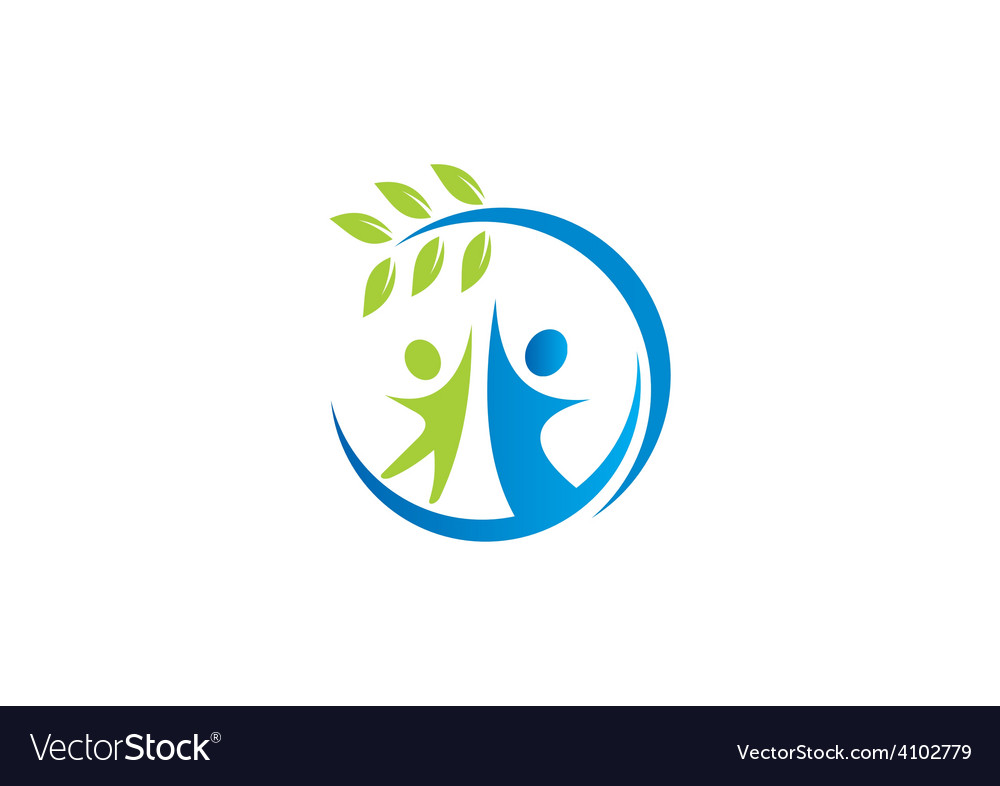 Nature ecology people friendly logo vector | Price: 1 Credit (USD $1)