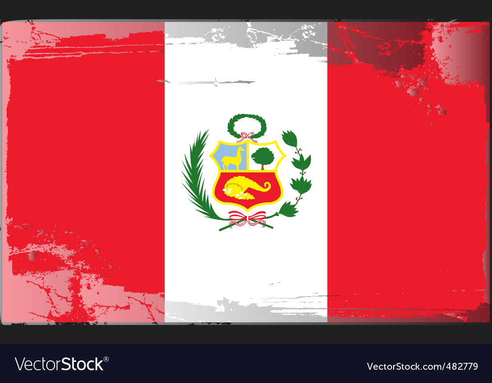 Peru national flag vector | Price: 1 Credit (USD $1)
