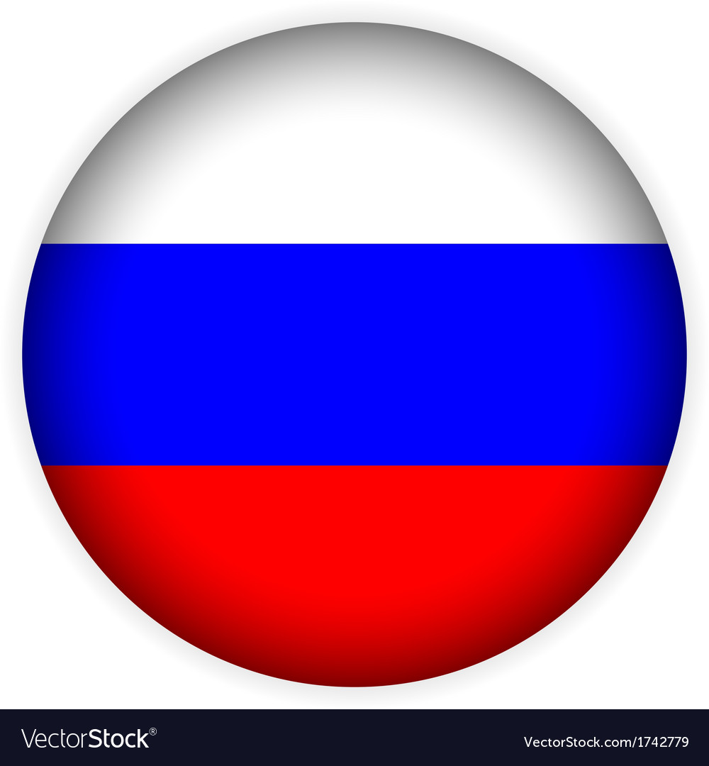 Russia flag button vector | Price: 1 Credit (USD $1)