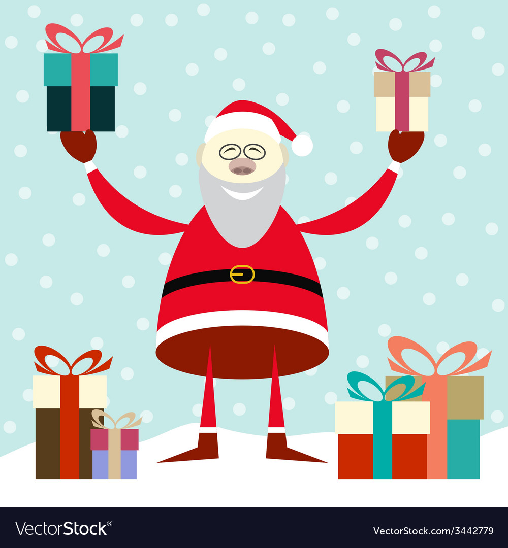Smiling santa claus vector   Price: 1 Credit (USD $1)