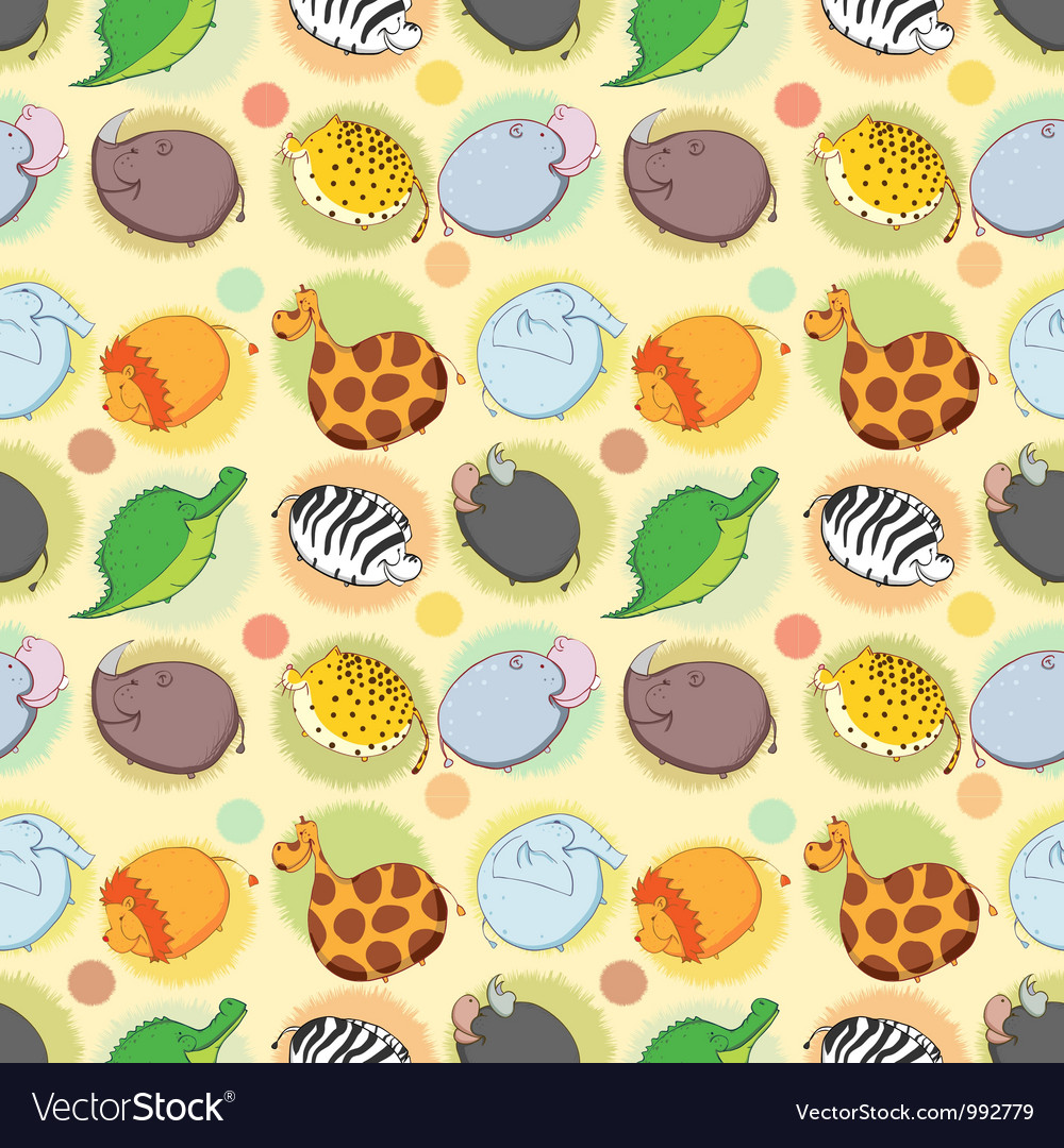 Thick animals of africa vector | Price: 1 Credit (USD $1)