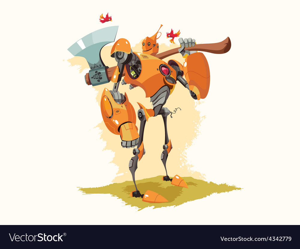 Tin woodman robot vector | Price: 1 Credit (USD $1)