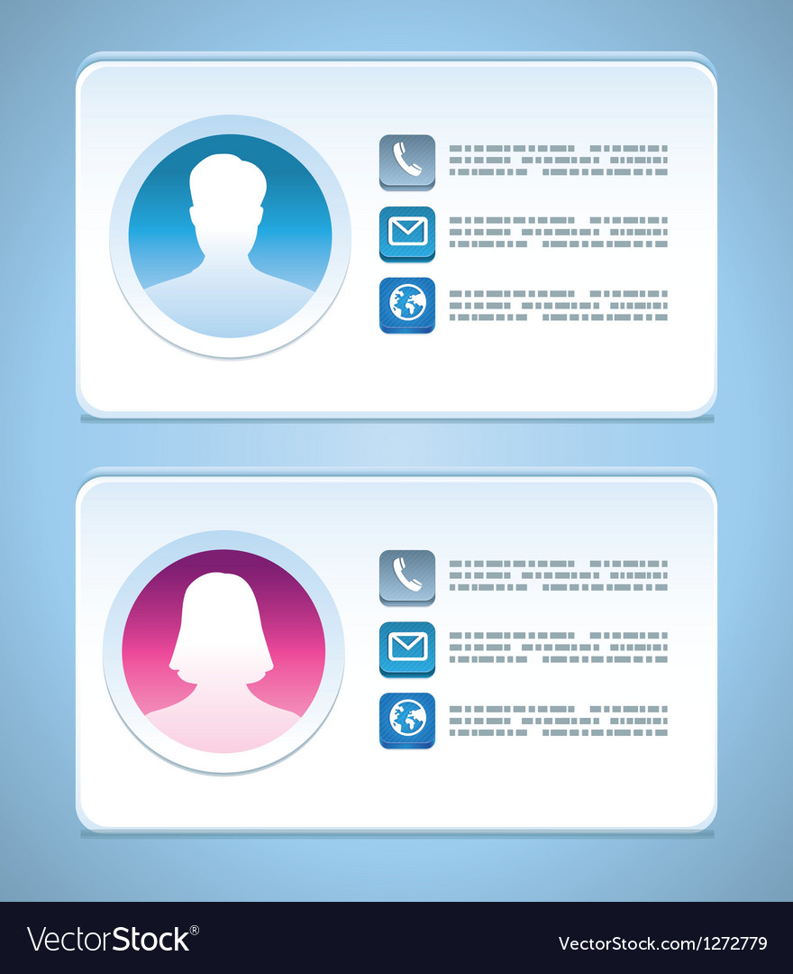Visit card templates vector | Price: 1 Credit (USD $1)