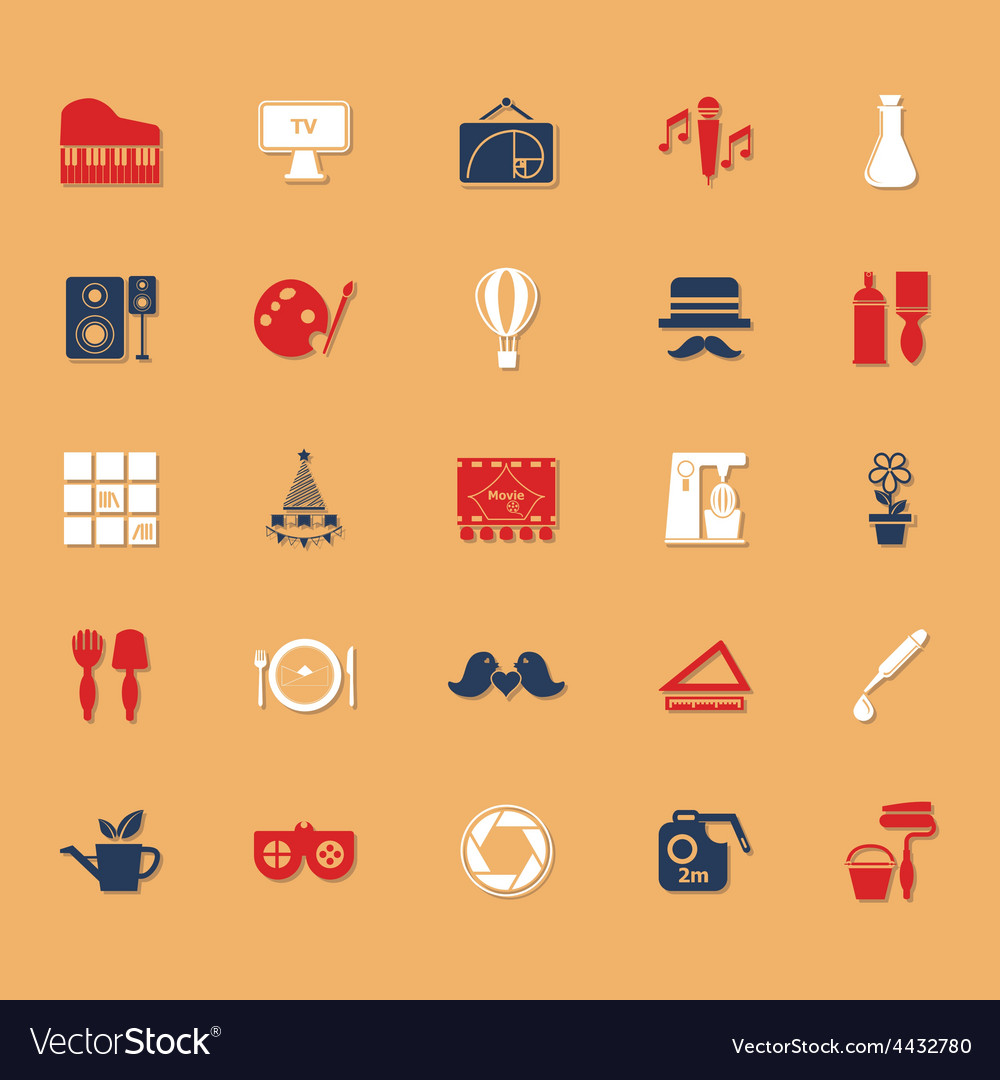 Art activity classic color icons with shadow vector | Price: 1 Credit (USD $1)