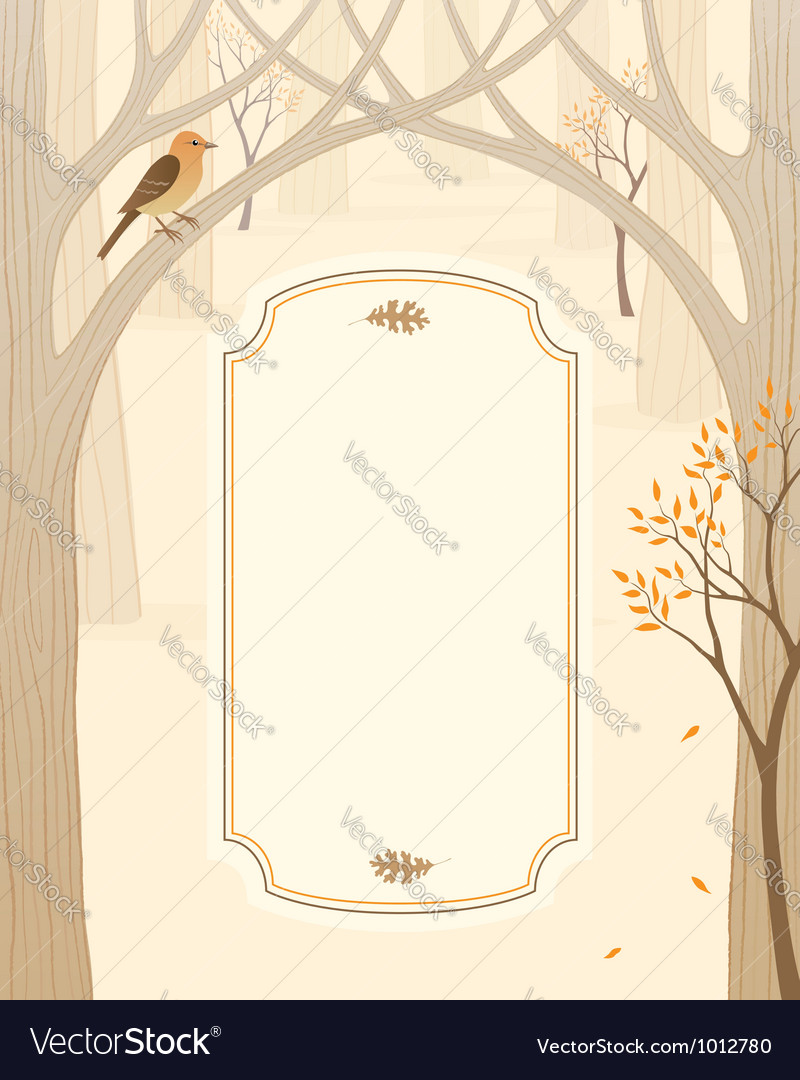 Autumn forest banner vector | Price: 1 Credit (USD $1)