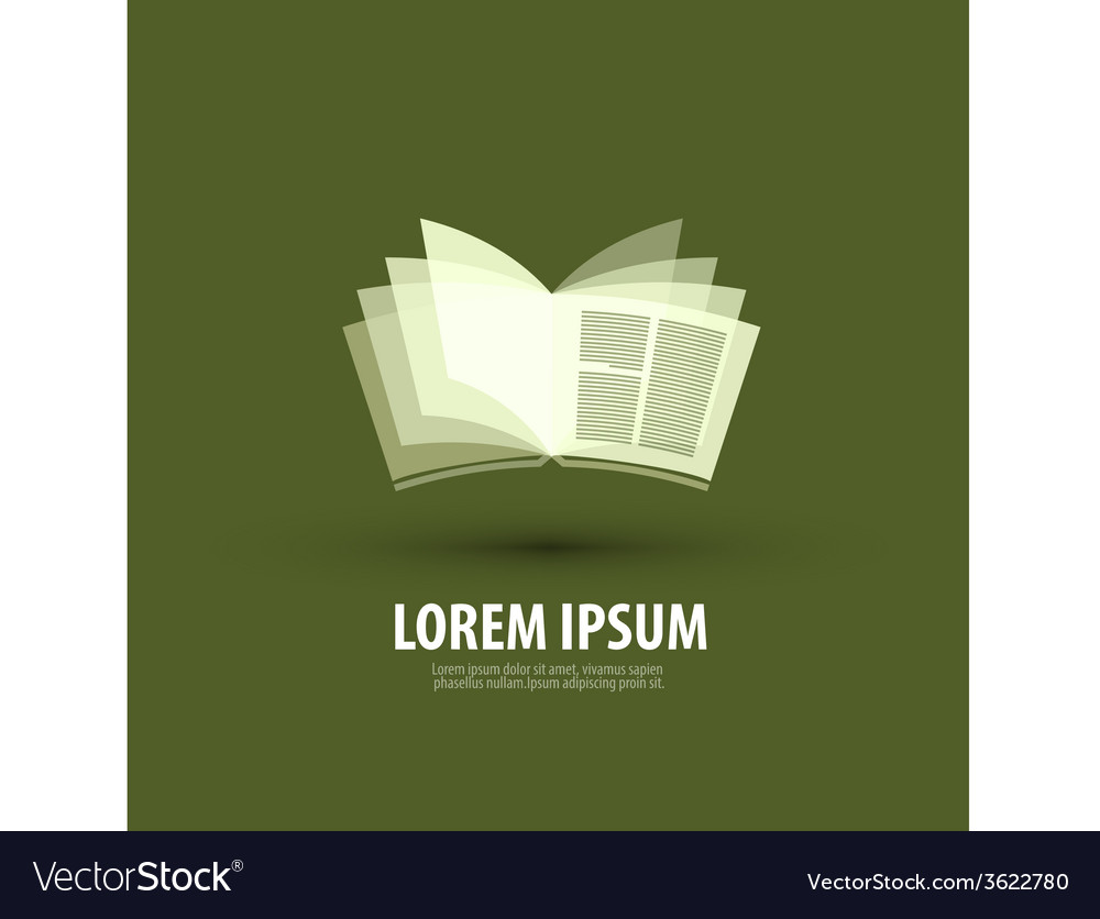 Book logo icon sign emblem template vector | Price: 1 Credit (USD $1)
