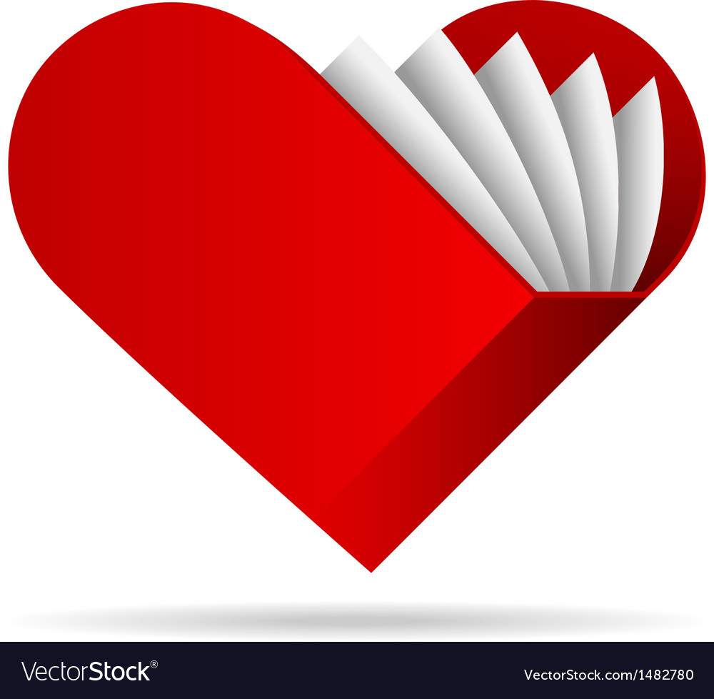 Book shape heart icon vector | Price: 1 Credit (USD $1)