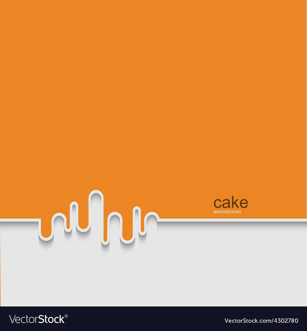 Modern cake background design vector