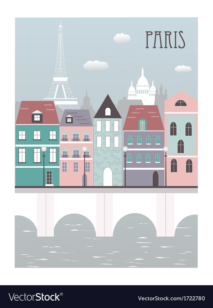 Paris city vector | Price: 1 Credit (USD $1)