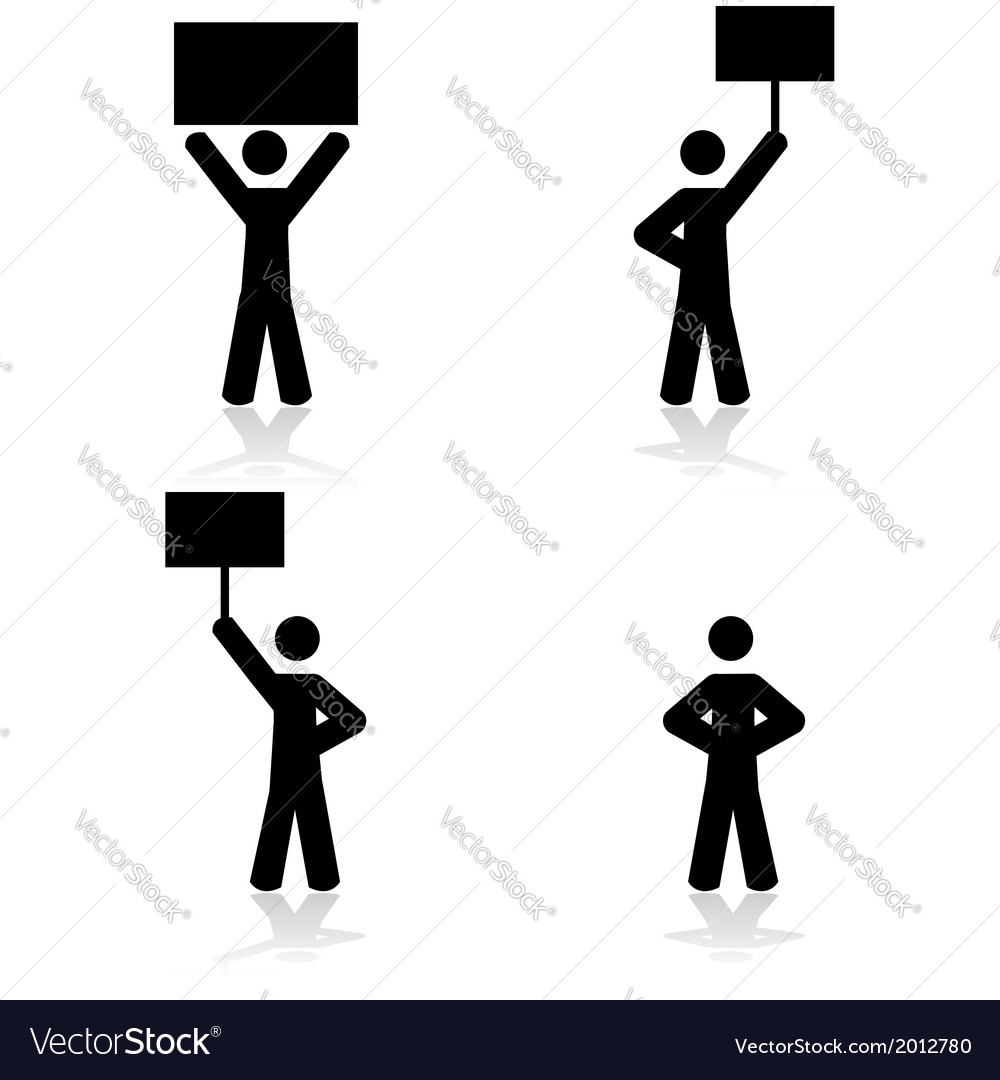 Protest icons vector | Price: 1 Credit (USD $1)