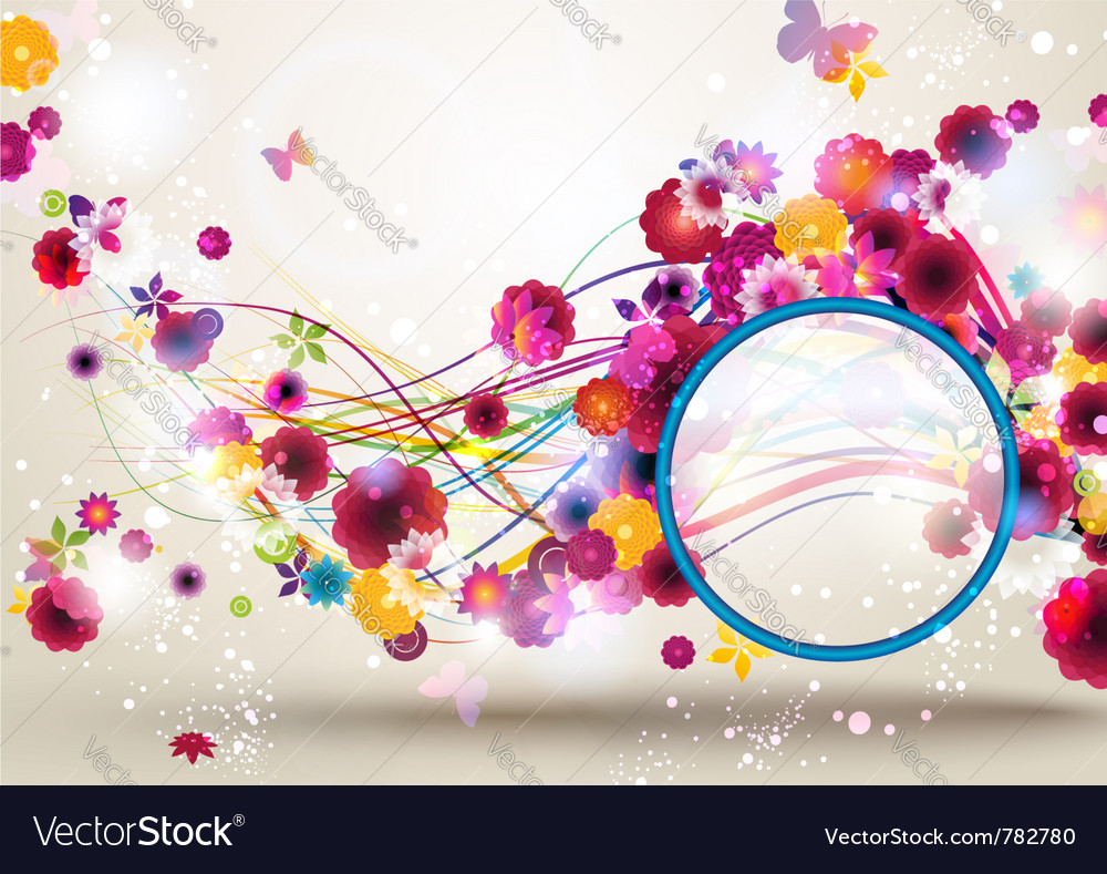 Spring floral background vector | Price: 3 Credit (USD $3)