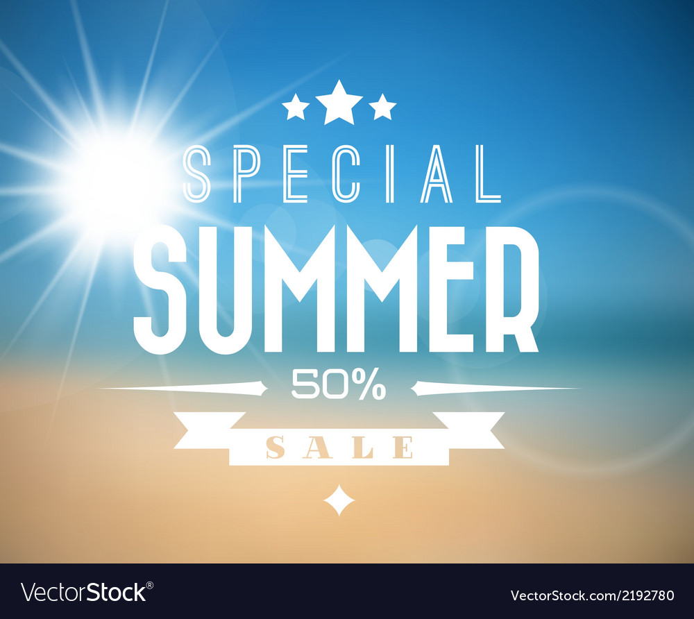 Summer sale poster vector | Price: 1 Credit (USD $1)