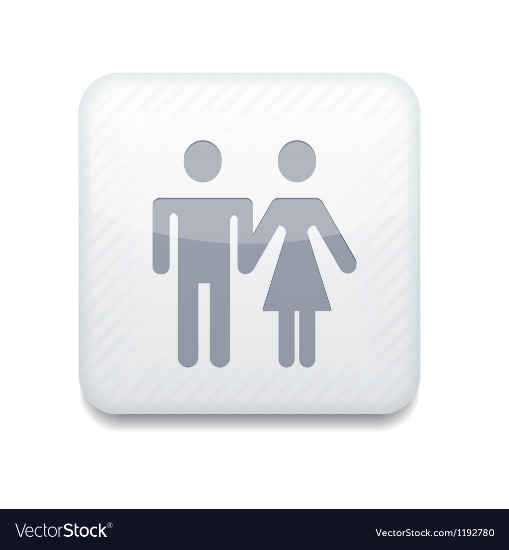 White wc icon eps10 easy to edit vector | Price: 1 Credit (USD $1)