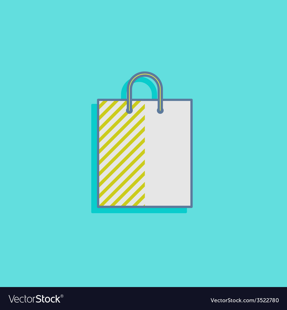 With a shopping bag in flat style design vector | Price: 1 Credit (USD $1)