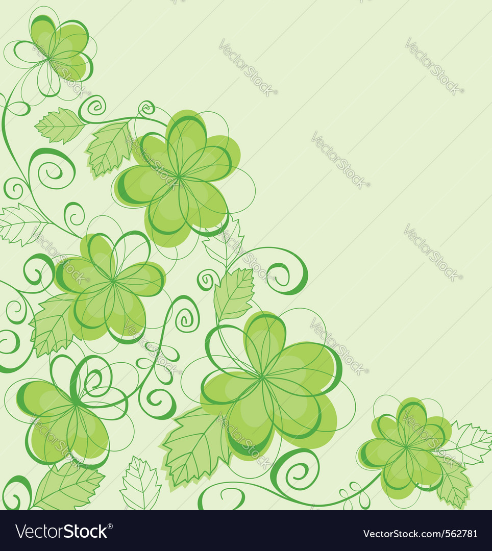 Abstract spring flower patterns vector | Price: 1 Credit (USD $1)
