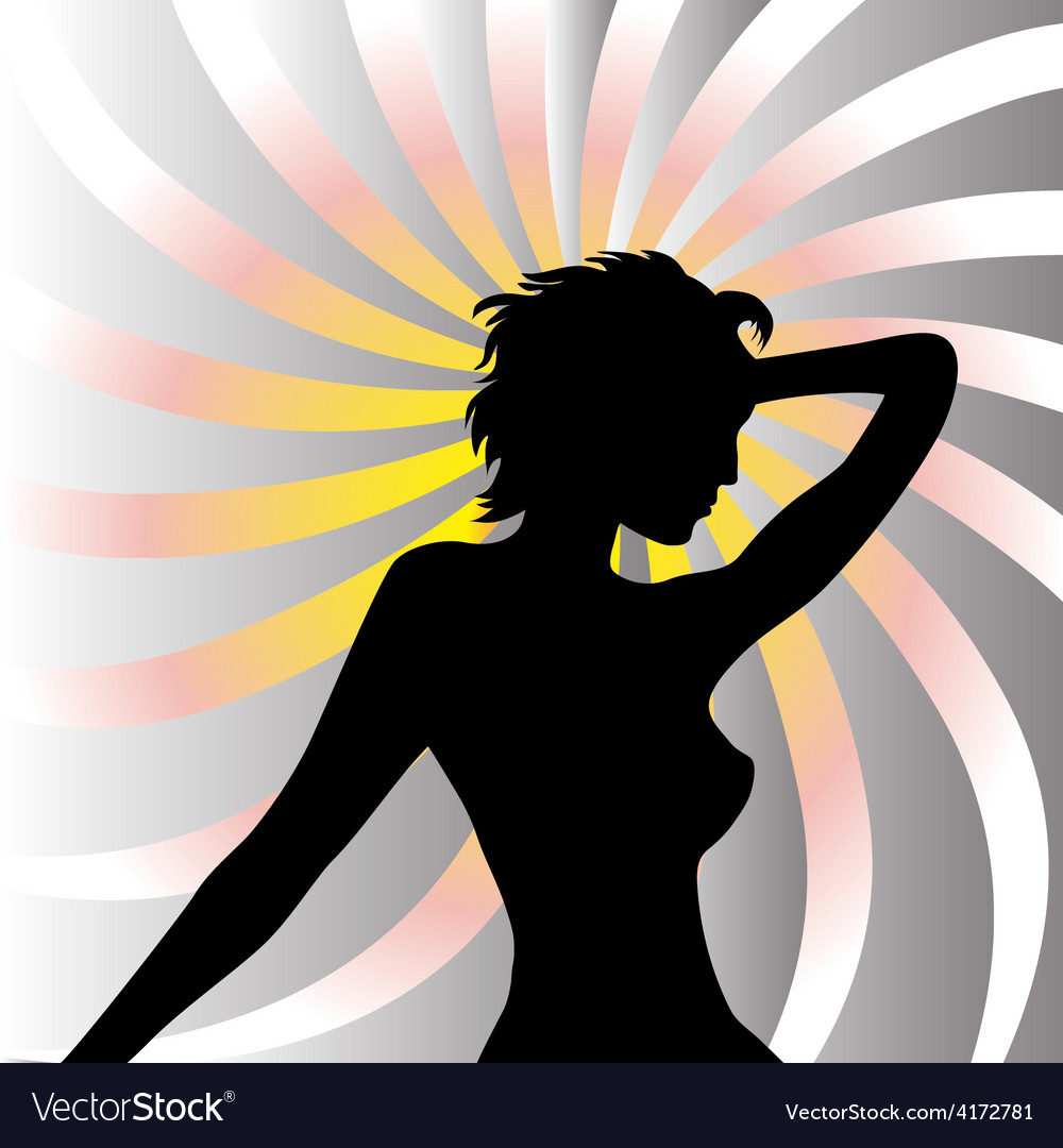 Beautiful woman background vector | Price: 1 Credit (USD $1)