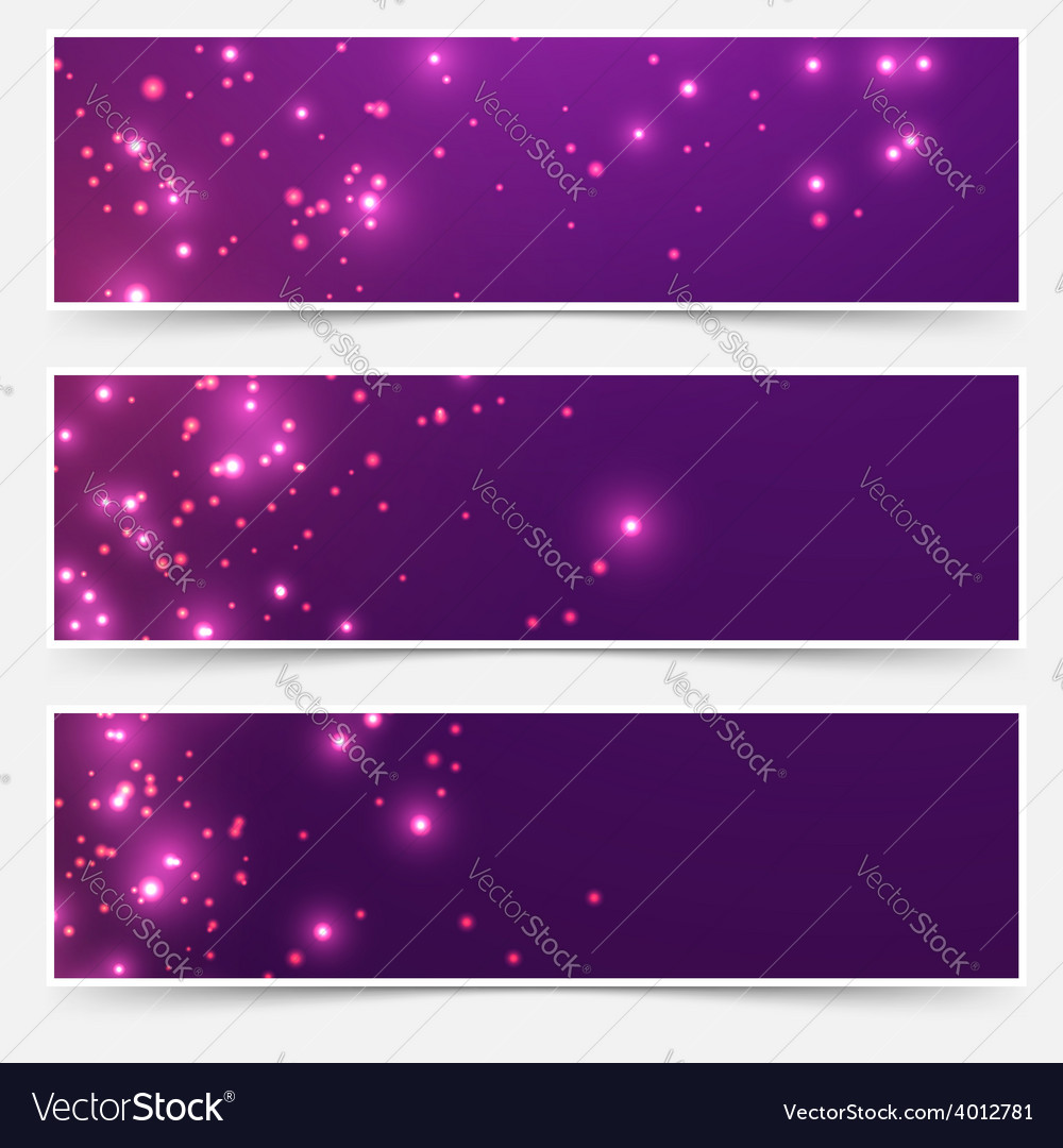 Bright glittering sparkle flare headers set vector | Price: 1 Credit (USD $1)