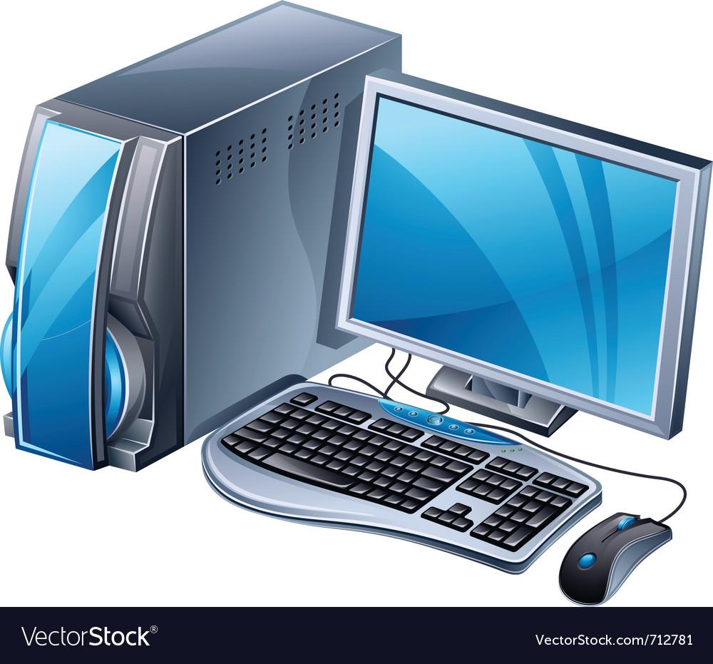 Desktop computer vector | Price: 3 Credit (USD $3)