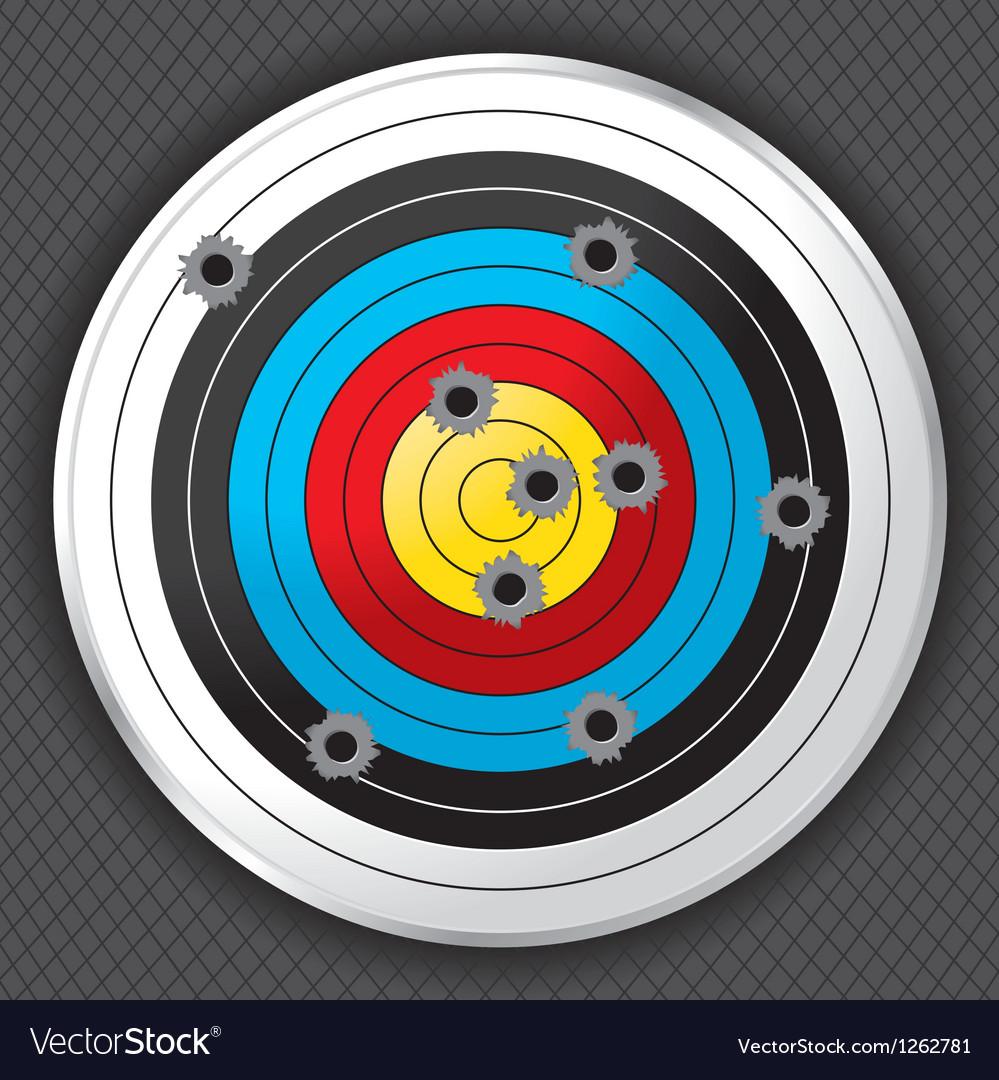 Gun range target with bullet holes vector | Price: 1 Credit (USD $1)
