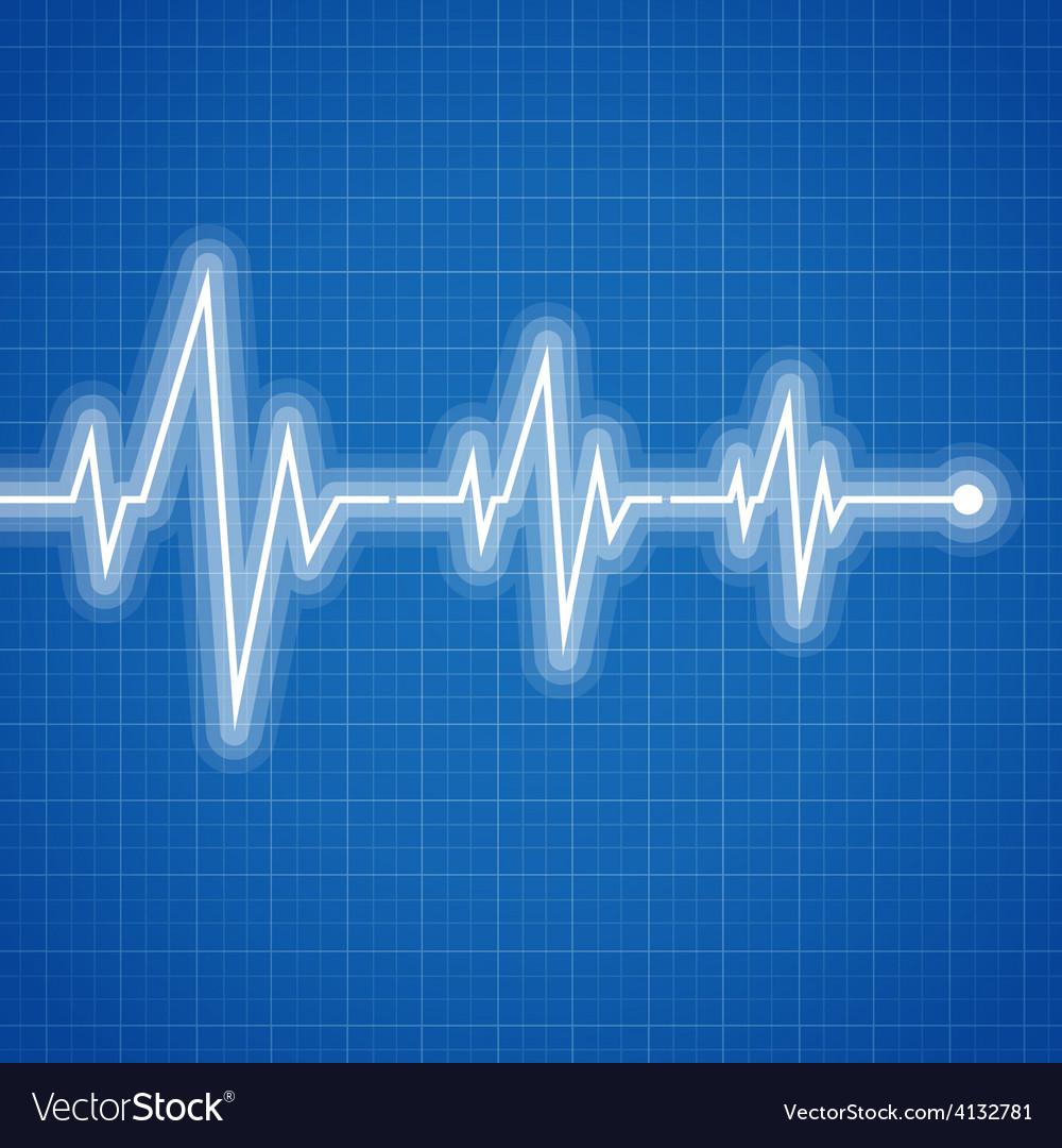 Medical design  cardiogram vector