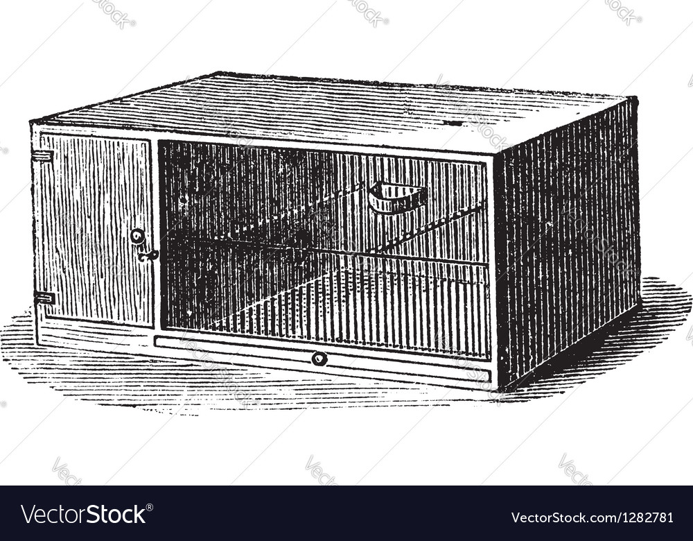 Mouse cage vintage engraving vector | Price: 1 Credit (USD $1)