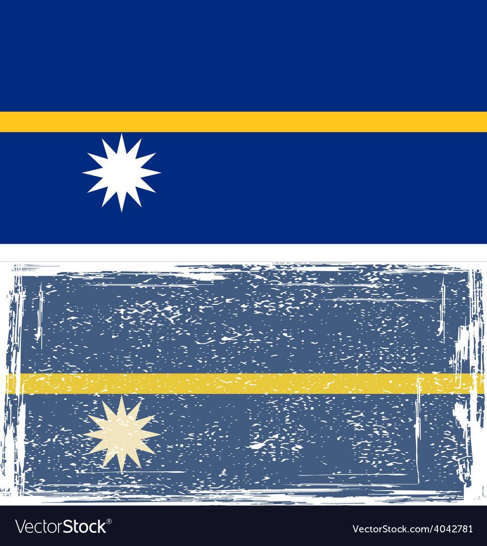 Nauru grunge flag vector | Price: 1 Credit (USD $1)