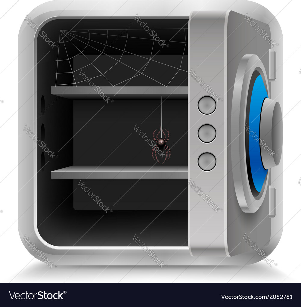 Open safe vector | Price: 1 Credit (USD $1)