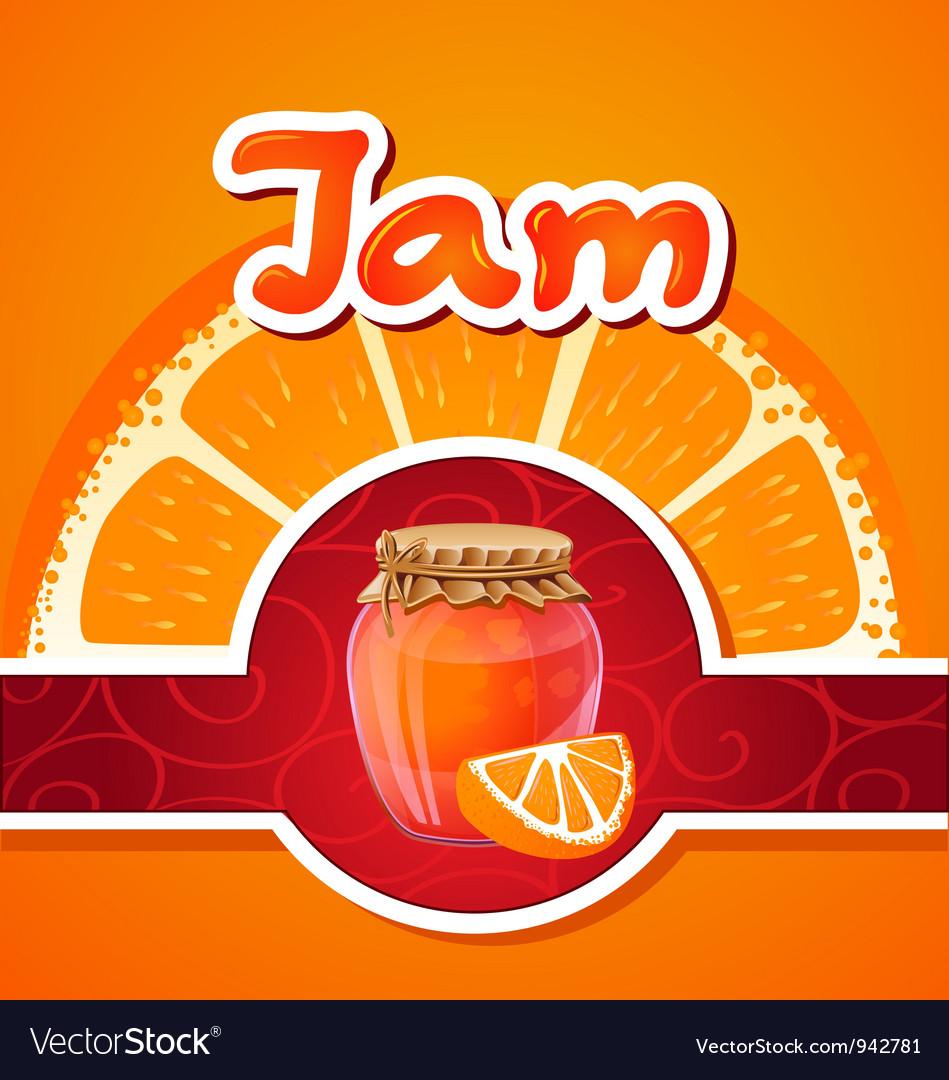 Orange jam vector | Price: 3 Credit (USD $3)
