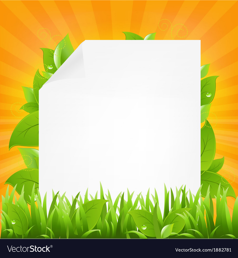 Paper with beams and grass vector | Price: 1 Credit (USD $1)