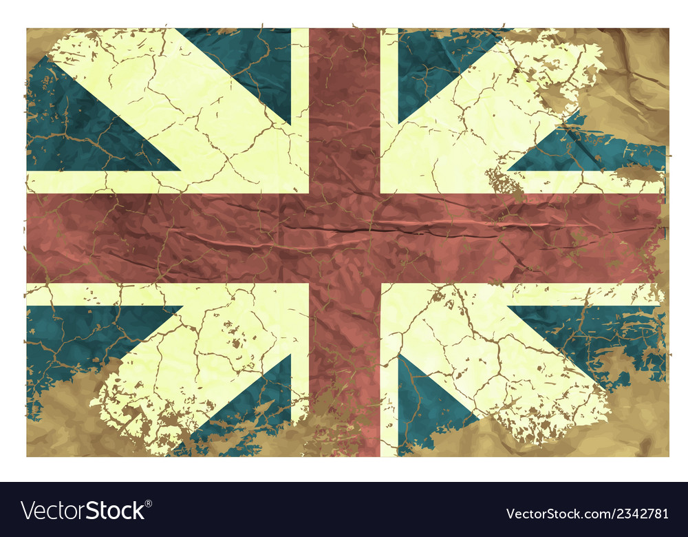 Vintage english flag vector | Price: 1 Credit (USD $1)