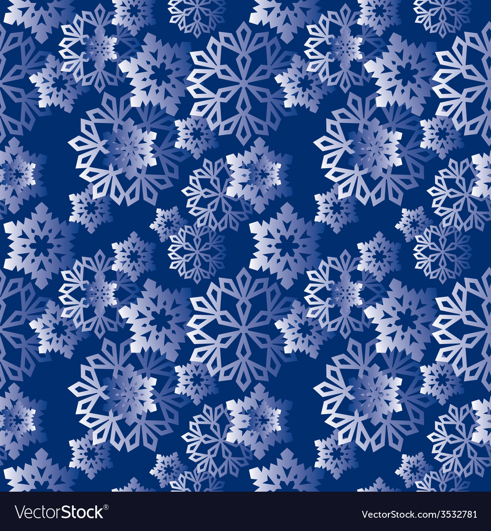Winter snowflakes pattern vector | Price: 1 Credit (USD $1)